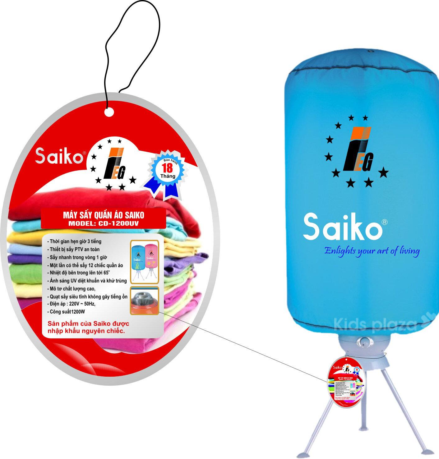 6 bước lắp đặt máy sấy áo quần Saiko